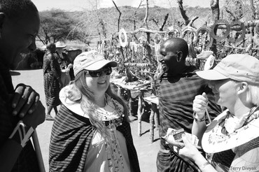 Maasai village marketplace