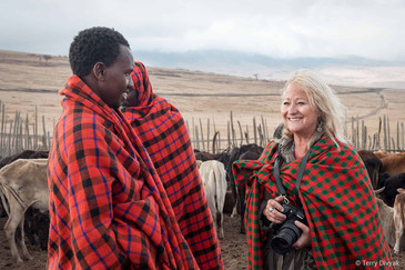 Maasai with my friend Tracy
