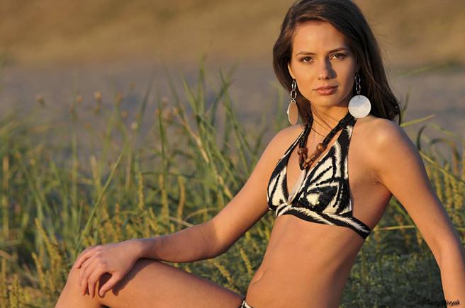Bikini Model Gabriela on Alki Beach in Seattle