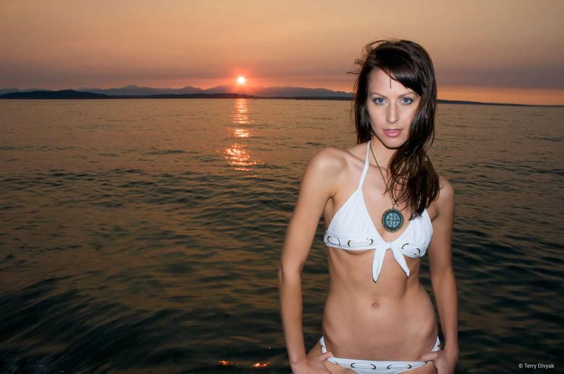 Bikini Model Jessica at Alki Beach in Seattle
