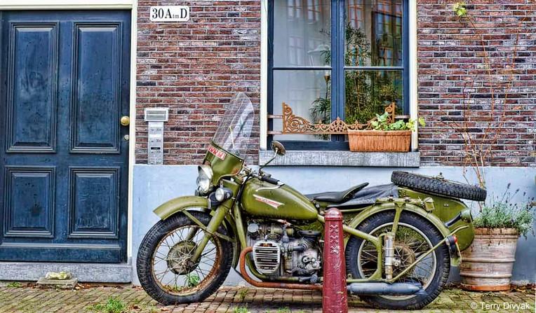 Vintage Motorcycle in Amsterdam