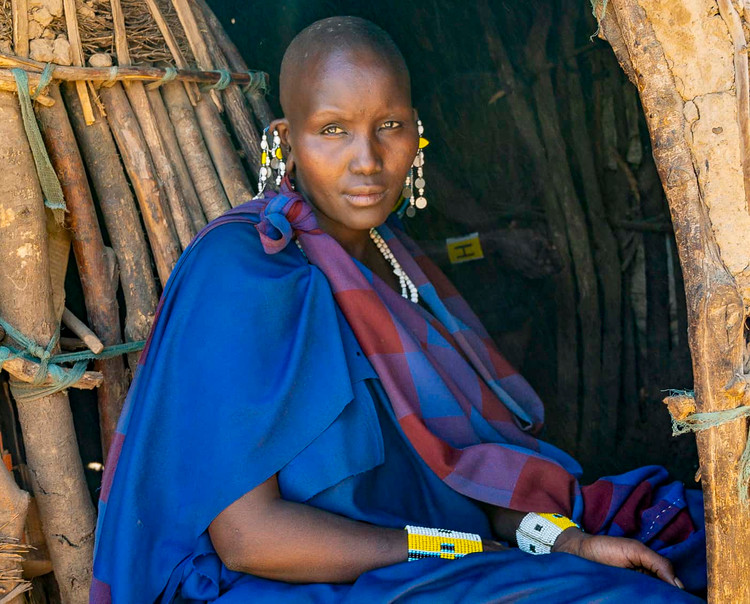 Portrait of a Maasai Woman color