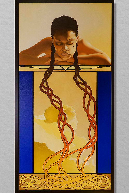 My Braids Original Painting - NOT FOR SALE