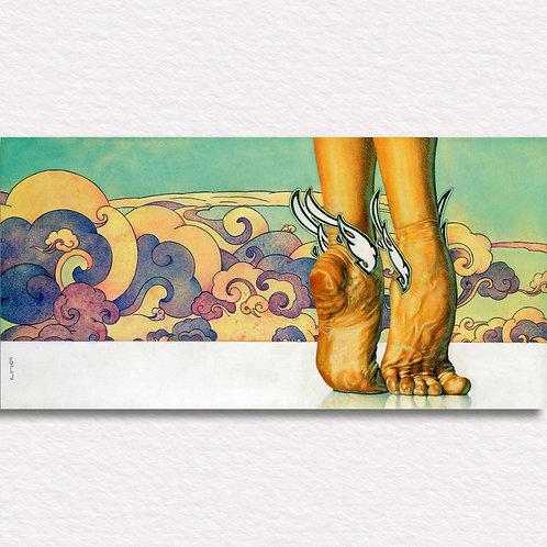 A Dancer's Feet Signed Print