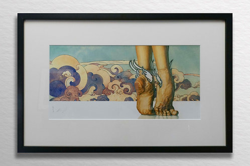 A Dancer's Feet Signed Giclee Art Reproduction