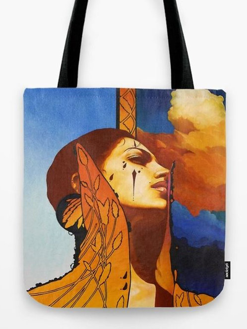 High Collar Tote Bag