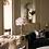 Thumbnail: Lampe plumes d'autruche sur meuble