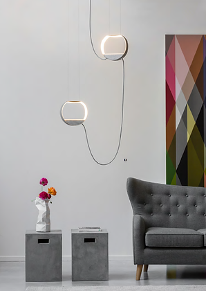 DesignHeure - Suspension 2, petit rond eau de lumière