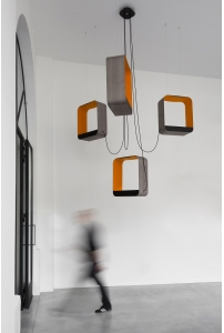 DesignHeure - Lustre 4 grand carré eau de lumière