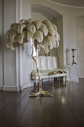 Lampe plumes d'autruche à poser