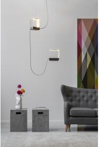 DesignHeure - Suspension 2, petit carré eau de lumière