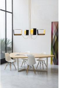 DesignHeure - Lustre 4 moyen rectangle eau de lumière