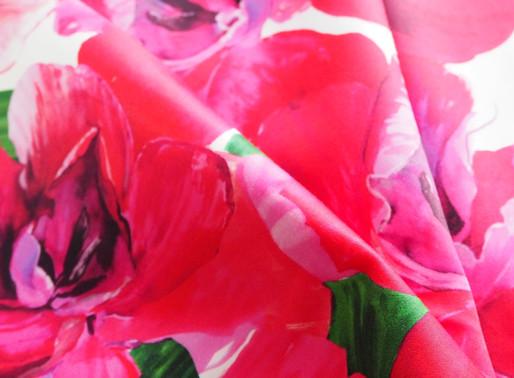 生地*女性実業家さんに見初められました ピンクの花柄生地