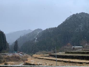 山里の訪問診療2019初積雪。
