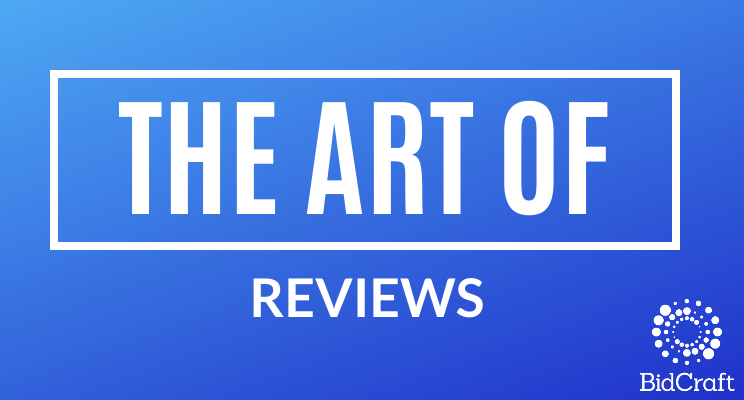A picture containing the text 'the art of reviews'