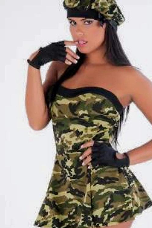 Fantasia erôtica camuflada Militar