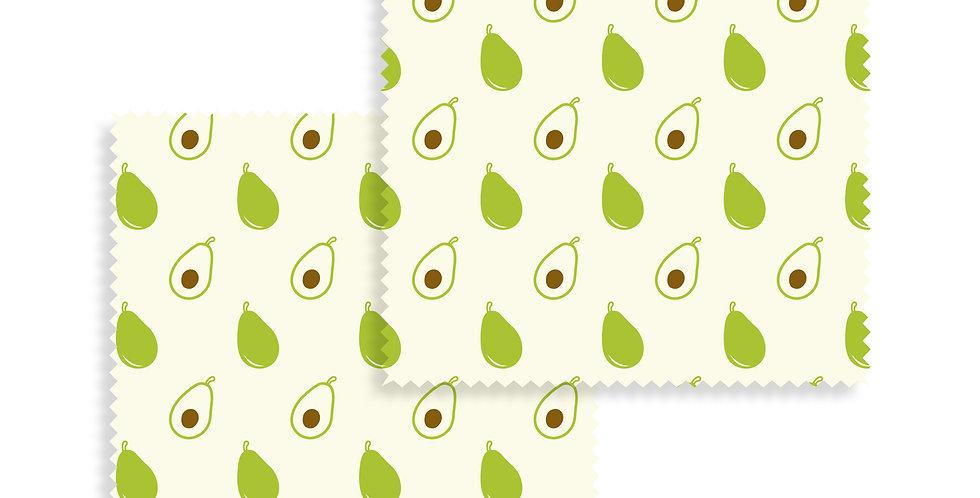Beeswax Wraps Avocado set of 2
