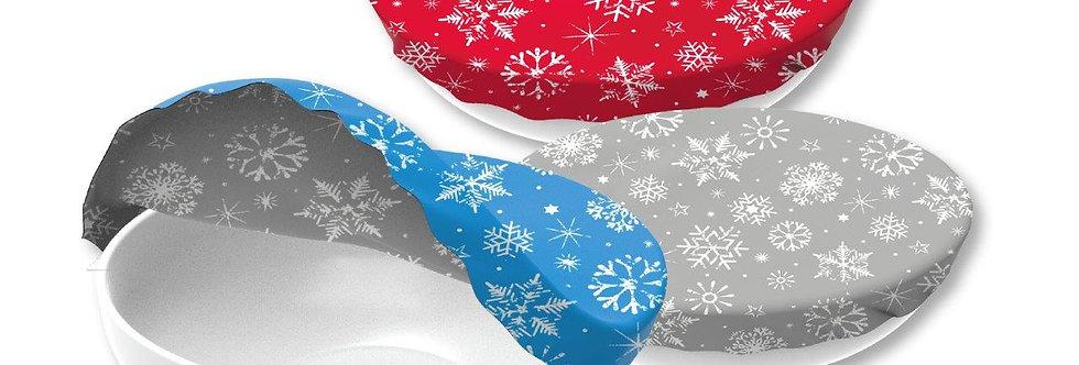 Textil Schüsselabdeckung 3er Set Winter Edition Baumwolle
