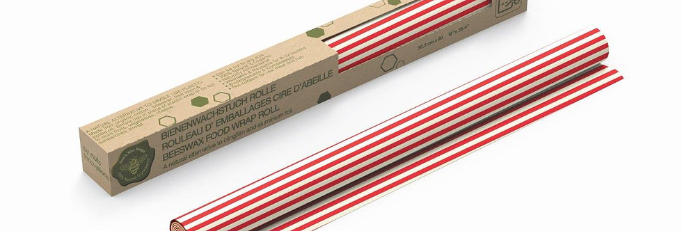 Beeswax Roll Stripes Red