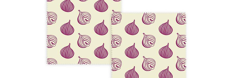 Set of 2 Beeswax Wraps Onion