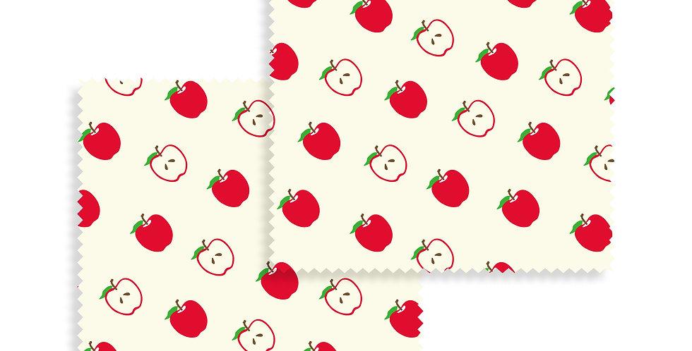 Beeswax Wraps Apple set of 2