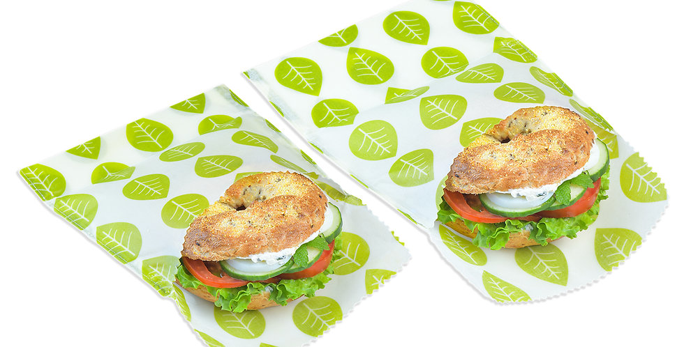 Set of 2 Vegan Wax Snack & Sandwich Bags