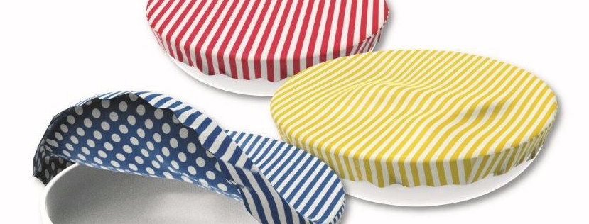 Textile Bowl Cover Set of 3 Stripes