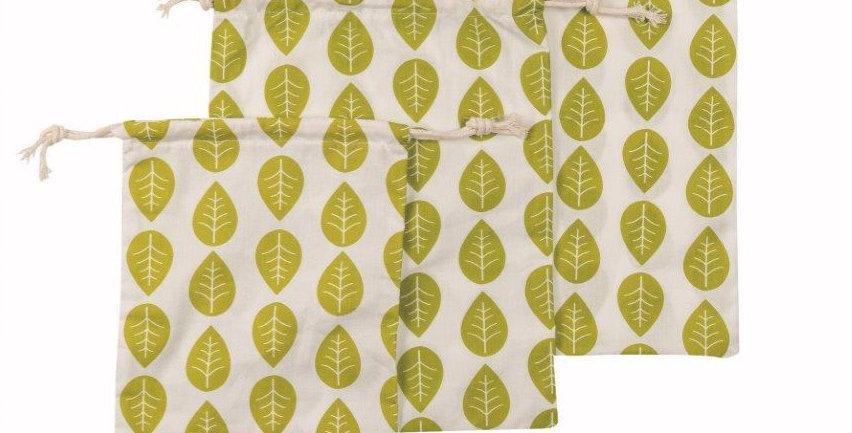 Obst & Gemüsebeutel 3er Set Grüne Blätter
