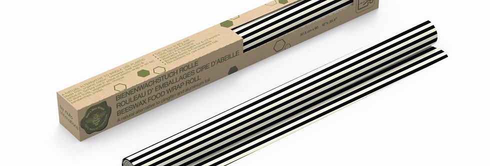 Beeswax Roll Stripes Black and White
