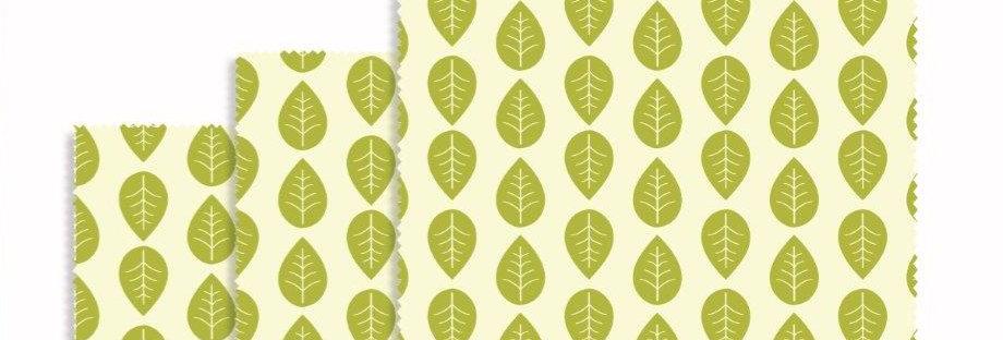 Vegan Plantwax Wraps Set of 3 Square