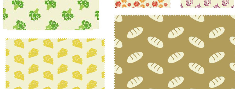 Set of 5 Beeswax Wraps