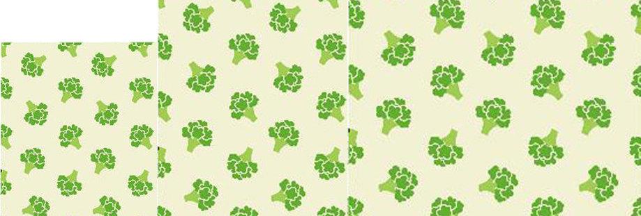 Bienenwachstuch Broccoli 3er Set