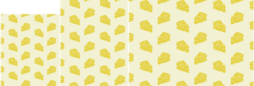 Set of 3 Beeswax Wraps Cheese