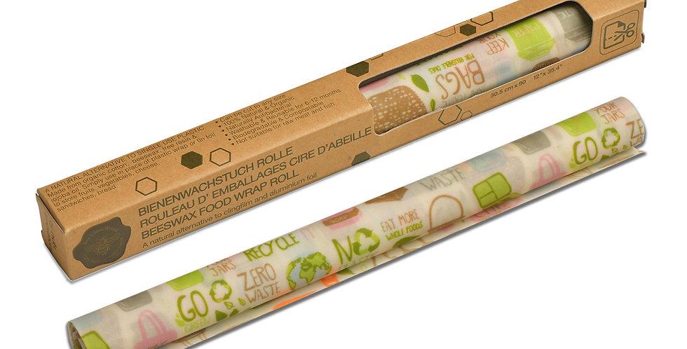 Beeswax Wrap Roll Zero Waste 30.5 x 90 cm