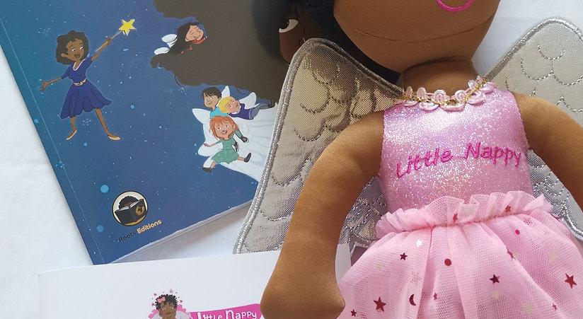Pack livre tome 1 et poupée Little Nappy