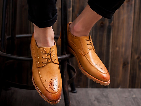 Leather Shoes - Coffee