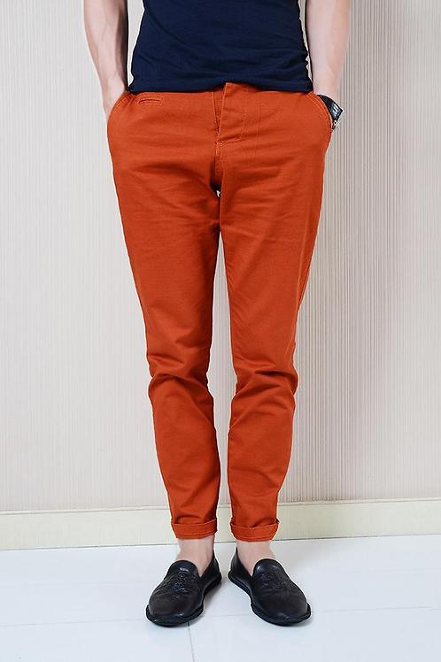 Slim Fit Chinos - Orange