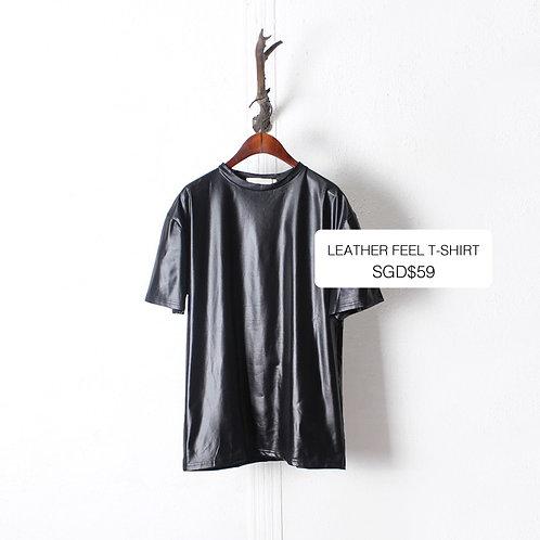 LEATHER FEEL T-SHIRT