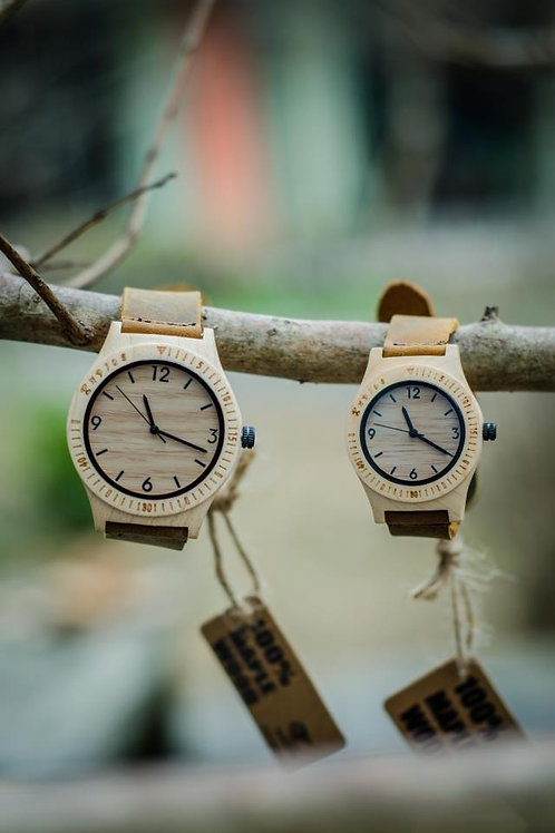 Maple Wood Handcrafted Watch