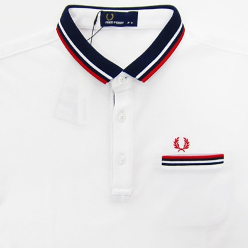 Fred Perry Narrow Collar Polo, White