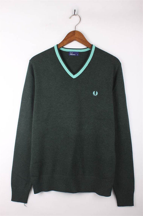Fred Perry Sweatshirt, Turquoise Green