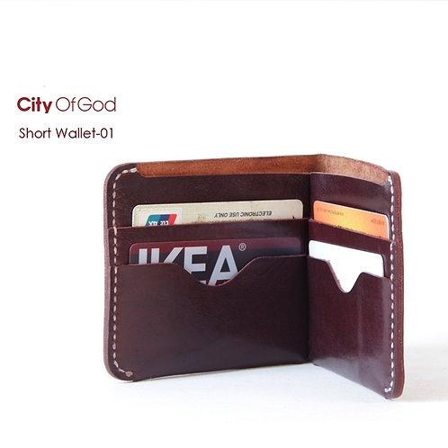 City of God Leather Short Wallet