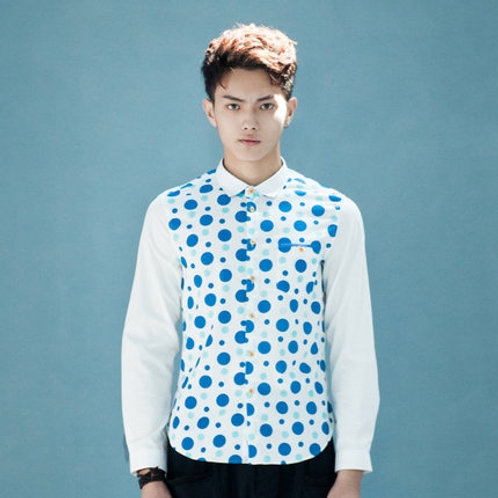 Polka Dot Shirt - White/Blue