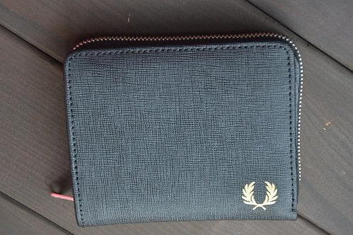 Fred Perry Saffiano Folded Zip Wallet