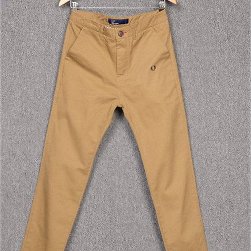Fred Perry Pressed Cotton Chinos - Warm Stone