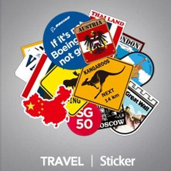 Travel Luggage Sticker Pack