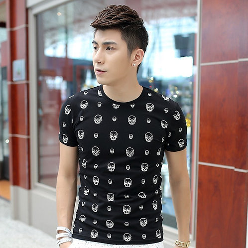 Skull Head Tshirt - Black
