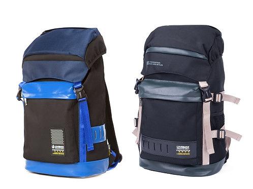 PU/NYLON Leather Backpack