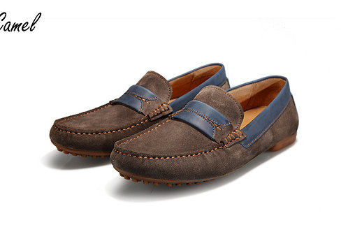 Calf Suede Leather Moccasins