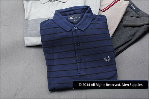 FRED PERRY NAVY STRIPES